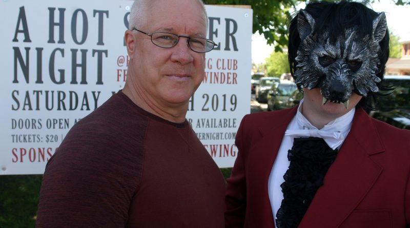 Huntley Curling Club President Blake Sinclair and the Wolf with the Red Roses are ready for A Hot Summer Night this Saturday. Photo by Jake Davies