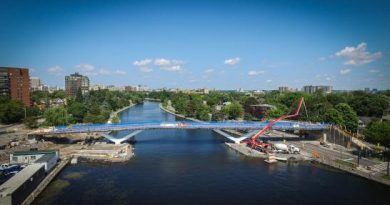 The Flora Footbridge is set to open this weekend. Courtesy City of Ottawa