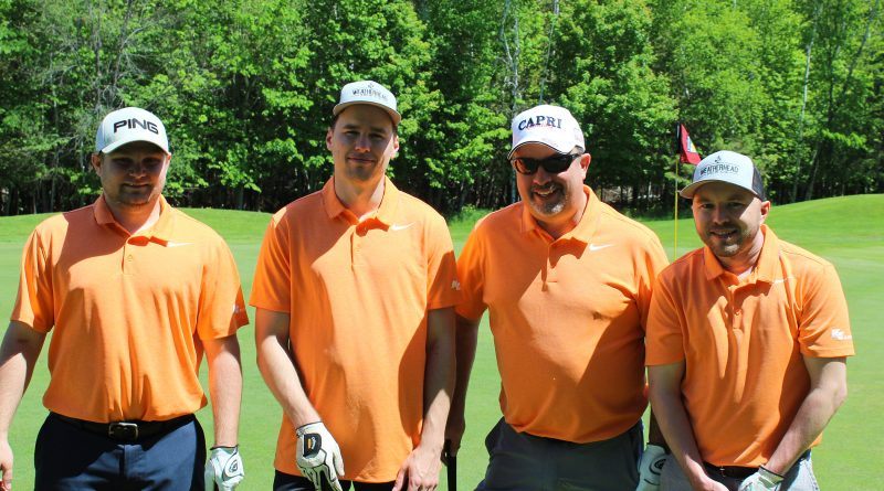 Several West Carleton residents took the opportunity to combine golf and philanthropy at the tournament. From left, Jesse Lowe, CFO at Carp's KE Electric and board member of the AGH FVM Foundation was joined by KE Co-owner Peter Richard and colleagues Tom Wilson and Kyle Dinell.