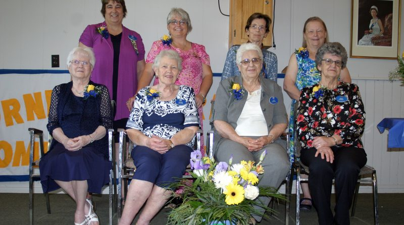 Lorne Sutherland WI members include In front, from left, Ina Mills, 50 plus years, Berna McClure 35 plus, Joyce Headrick, 35 plus years and Gwen Steinke, 10 plus. In back are Terry MacHardy, 35 plus years, Debbie Mohr-Caldwell 20 plus years, Marina Simard, five plus years and Pat Herrick, 10 plus years. Photo by Jake Davies