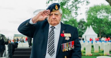 West Carleton war hero Dr. Roly Armitage was one of 40 veterans to take part on the 75th anniversary of D-Day. Courtesy Dr. Roly Armitage