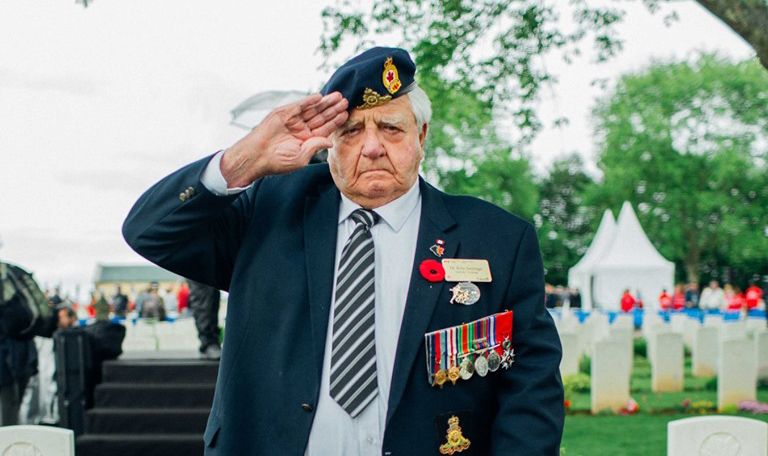 WC war hero returns from France
