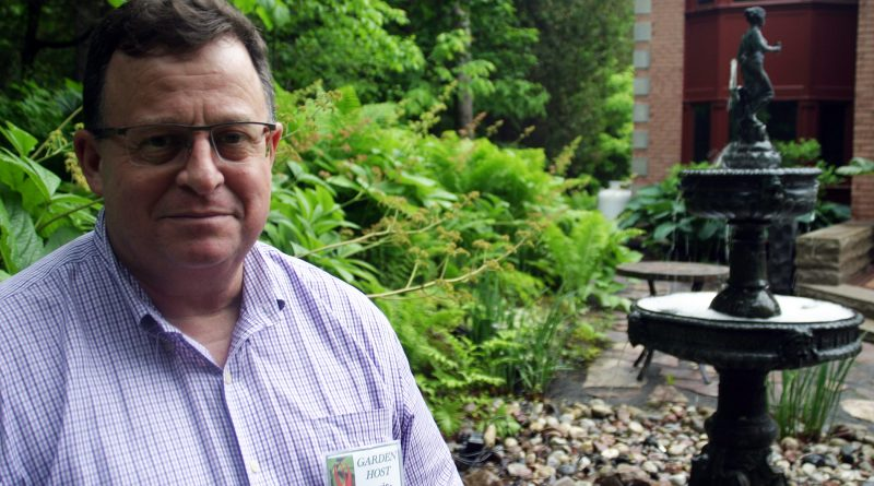 Garden tour stop host Louis Philippe says he loves everything about gardening. Photo by Jake Davies
