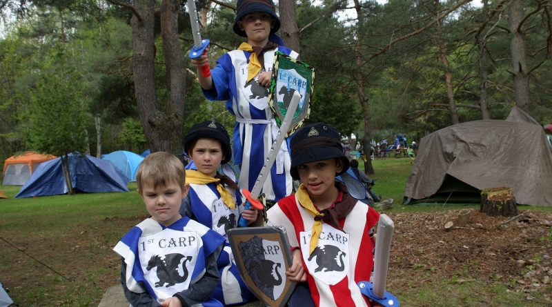 The First Carp Scouts were some of 750 Scouts to take over Fitzroy Provincial Park last weekend. From left are Devlin Cavanagh, Tegan Cavanagh, Sammy Redshaw and Ben Boyce. Photo by Jake Davies