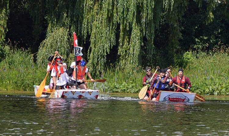 Build a raft, then race it across the Mississippi in the August Almonte General Hospital fundraiser. Courtesy AGH