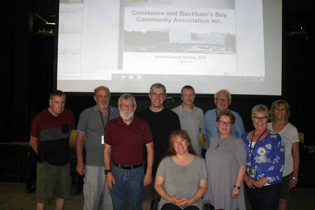 CBBCA President Len Russell, second from left in this 2019 AGM photo, says he's been busy. Photo by Jake Davies