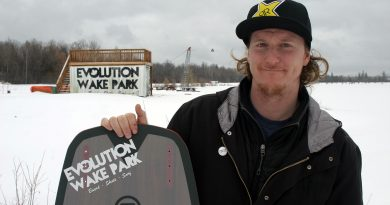 Evolution Wake Park in colder times. West Carleton Online spoke with owner Jordan Sien at the end of March. This Saturday the park hosts Ottawa's inaugural wakeboard competition. Photo by Jake Davies