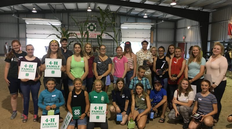 This year's winner pose for a photo after the 4-H event in Carp last week. Courtesy 4-H