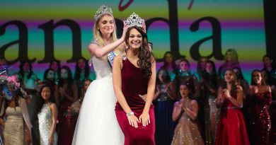 Beachburg's Emma Jeapes receives her tiara during Sunday night's Miss Teenage Canada event. Courtest Miss Teenage Canada