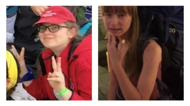Maya Mirota, right, and Marta Malek, were found safe Monday after they went missing while in Algonquin Park. Courtesy OPP