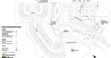 FoTenn consultants have a proposed development plan for the land for sale on Langstaff Drive. Courtesy Primecorp