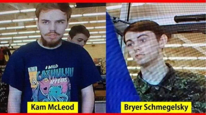 Murder suspects 18-year-old Bryer Schmegelsky and 19-year-old Kam McLeod may be heading down Highway 17. Courtesy OPP
