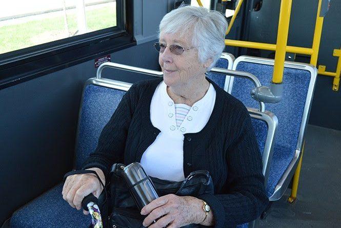 Seniors now ride OC Transpo buses at no charge on Wednesdays and Sundays. Courtesy City of Ottawa
