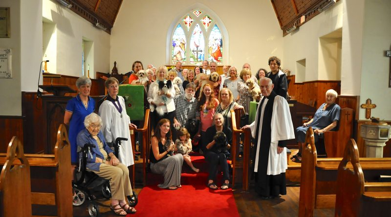 St. Mary's held its annual Blessing of the Animals service last Sunday and six dogs and three cats came to church. Photo by Michele Leboldus