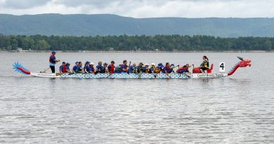 The fifth annual Constance Bay Dragon Boat festival featured a record-breaking 16 teams last Saturday. Photo by Jake Davies