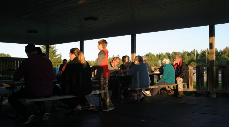 It was a beautiful evening to be outside, enjoy some tasty treats and be appreciated for volunteering in Corkery last week. Photo by Jake Davies
