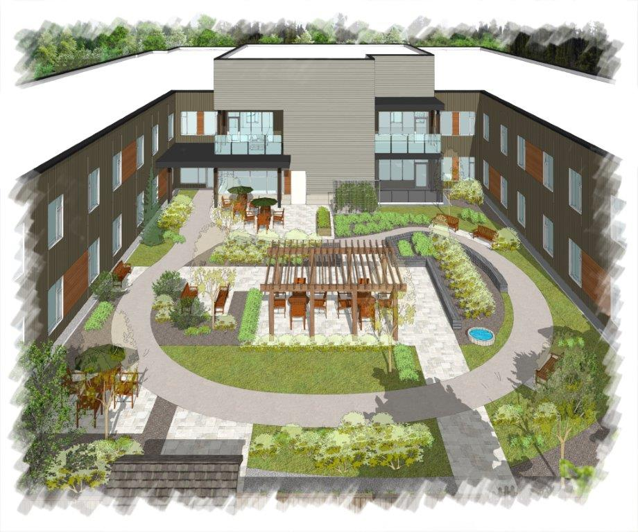 The inner courtyard. Courtesy ORH