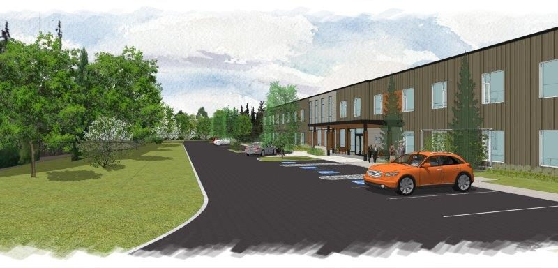 The architect's drawings of the new front office. Courtesy ARH