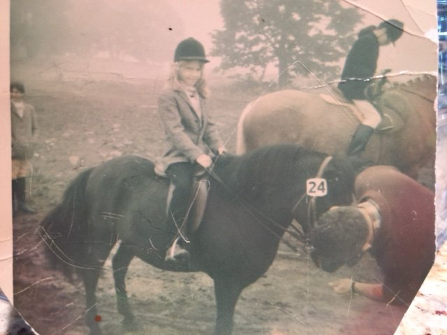 A young Merrilee Fullerton on her pony Smokey at the Carp Fair. Courtesy Dr. Merrilee Fullerton/Twitter