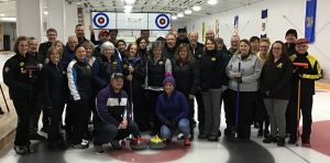 Last year's Huntley Curling Club Learn to Curl graduates pose for a photo. Courtesy HCC