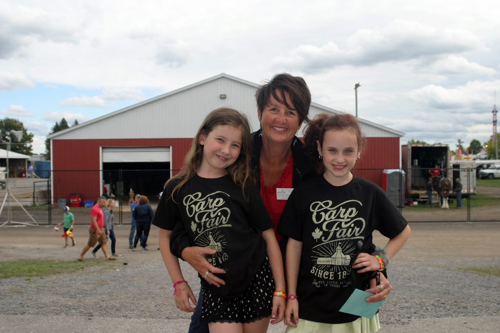 Past president Tracey Zoobkoff (2016) with future board members Kalina Zoobkoff, 9, and Etta Stevenage, 7. Photo by Jake Davies