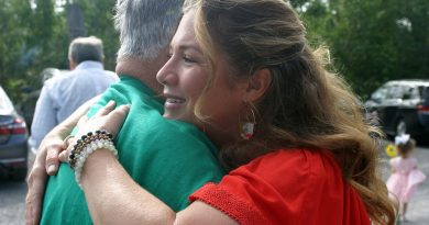Our top story from September: Spouse of the Prime Minister of Canada Sophie Grégoire Trudeau gives Dunrobin resident Leo Muldoon a big hug on his birthday. Photo by Jake Davies