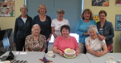 The Carp branch Book Chat club poses for a photo on the 20th anniversary of the club. Courtesy Lori Fielding