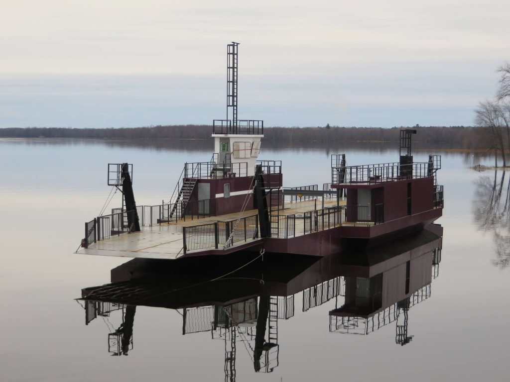 The new ferry, the Grant Beattie, can hold 21 cars and started operating in 2013. Courtesy the Quyon Ferry