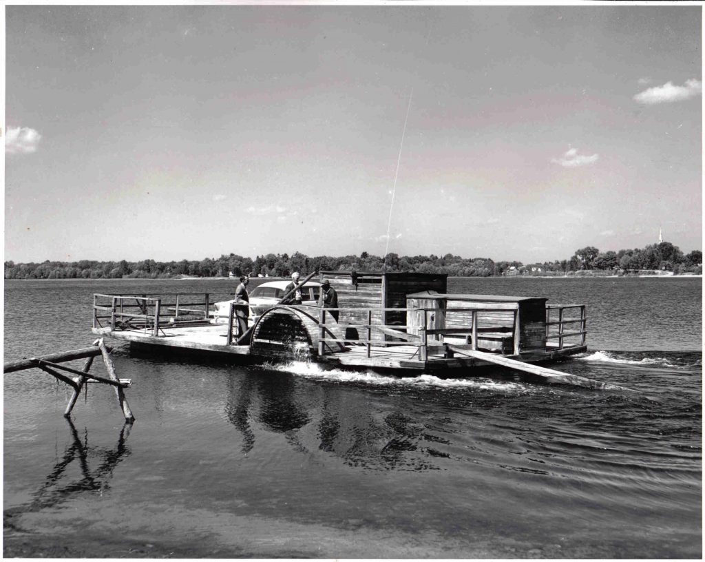 The paddle wheel ferry, the first in the McColgan fleet, was retired in 1957. Courtesy the Quyon Ferry