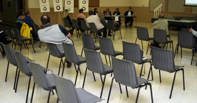 Perhaps it was an election hangover, but only a small crowd stayed for Budget 2020 consultations in Kinburn on Oct. 22. Photo by Jake Davies