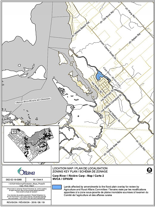 The City of Ottawa's new Carp River flood plain map. Courtesy the City of Ottawa