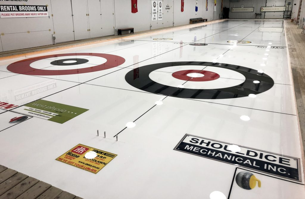 The finished job, ready for you to try curling this Saturday. Courtesy the HCC
