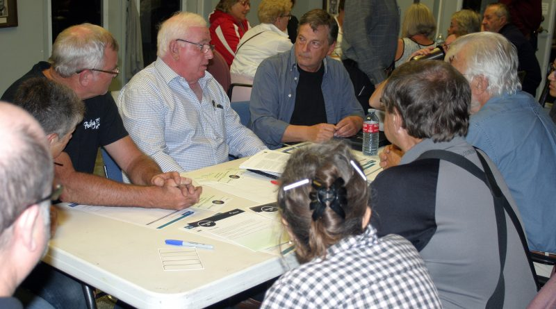 Former West Carleton mayor Dwight Eastman, centre, was one of roughly 53 community leaders providing input at the Sept. 23 Official Plan Engagement Session. Photo by Jake Davies