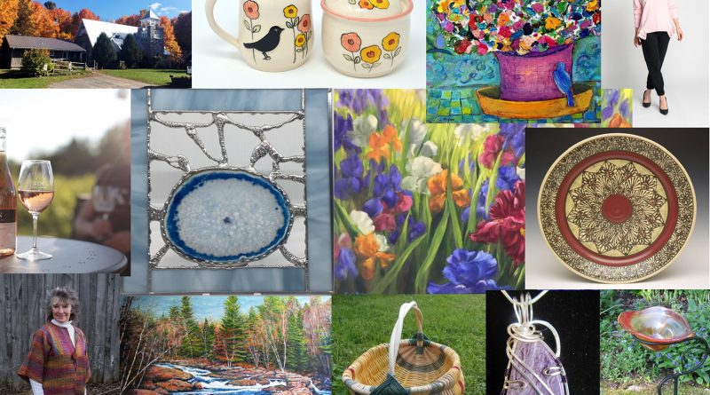 A collage of some of the great artists you will see on the Red Trillium Studio Tour this weekend. Courtesy the Red Trillium Studio Tour