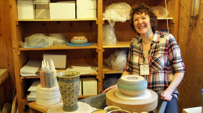 Kinburn potter Teresa Wingar sits at her wheel in her Diamondview studio on day two of the 41st Red Trillium Studio Tour. Photo by Jake Davies