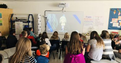 Fitzroy Harbour students learn about the election process, this year's parties and their local candidates during the Student Vote education program. Courtesy St. Michael's Fitzroy Harbour