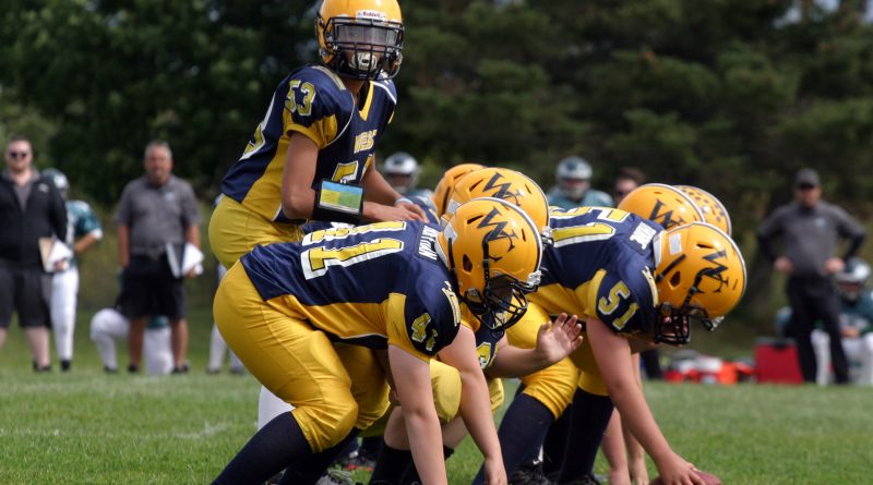 The Wolverines will be playing playoff football this weekend with both the peewees (pictured) and tykes in action. Photo by Jake Davies