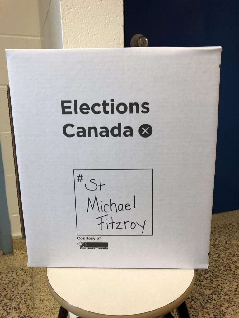 Three West Carleton schools tool part in the national Student Vote program in 2019. Courtesy St. Michael's Fitzroy Harbour