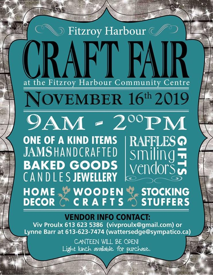 Fitzroy Harbour Craft Fair poster