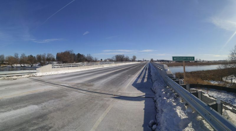 The new Mississippi River Bridge at Old Hwy. 17 as it appeared this morning moments before West Carleton Online crossed it. Photo by Jake Davies