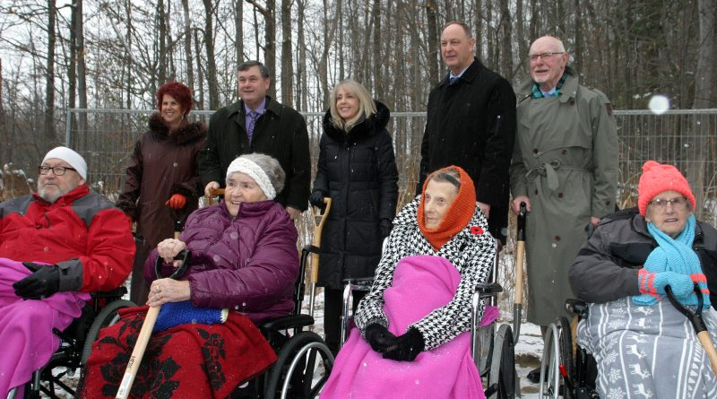 Residents, politicians and Arnprior Regional Health officials take part in the official sod-turning ceremony last Thursday. Photo by Jake Davies