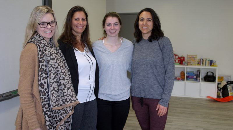 Aspire Academy's director Ashley Hayes, director Kim Moore, teacher Paige Corrigan and head teacher Kris Bissel in one of the schools recently rennovated classrooms. Photo by Jake Davies