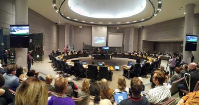 Mayor Jim Watson unveils the draft 2020 City of Ottawa budget to council during yesterday's meeting. Photo by Jake Davies