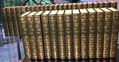 A photo of the Dickens' volumes for sale by the Friends of the Library at Carp. Courtesy the Friends of the Library at Carp