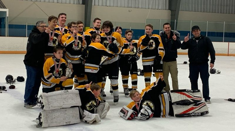 The West Carlleton bantam 3 Warriors brought home gold from Bradford last weekend. Courtesy Victoria Lefebre