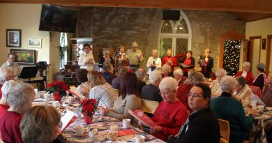 It was a full house at the Bethel-St. Andrew's United Church Women's Senior Christmas Tea as the group sings Christmas carols last week. Photo by Jake Davies