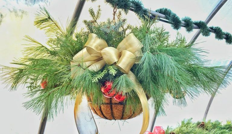 Keep your eyes peeled for these beautiful baskets, creating a festive spirit in the Village of Carp and each one sponsored by a community member. Courtesy the HCA