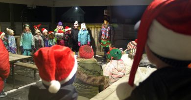 The West Carleton Glee Club sings carols at the Corkery Community Association Christmas Tree Lighting. Photo by Jake Davies