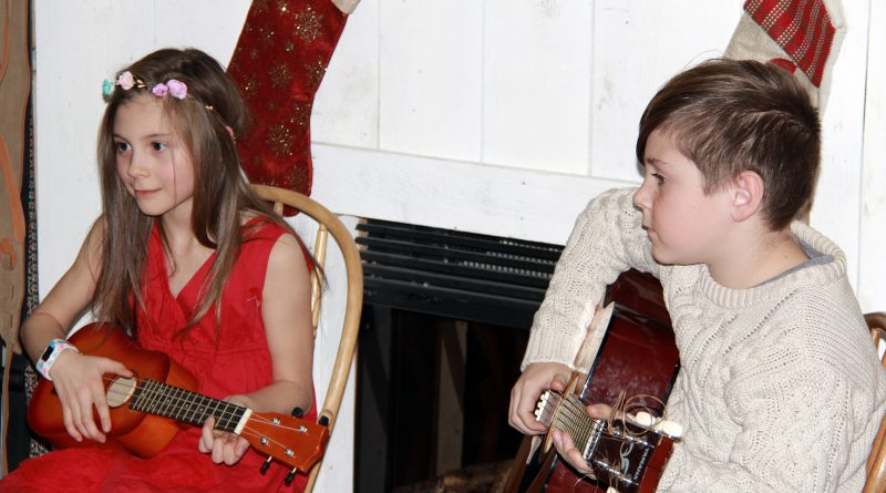 Corkery brother and sister duo Ellie and Jude Gervais perform at Wednesday's Gambit Music Academy Christmas Recital. Courtesy Jennifer Johnson