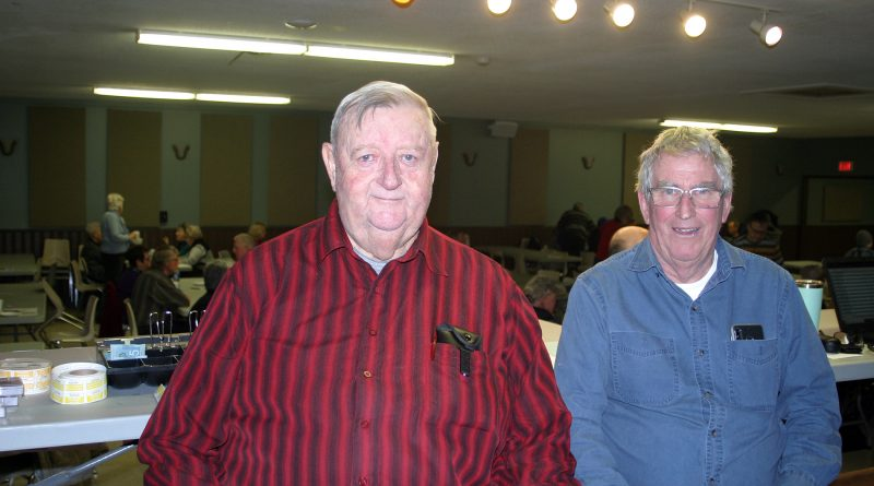 For, from left, volunteers John Verney and Ron Burnett, the Carp Agricultural Society euchre series is an opportunity for two friends to spend the afternoon together. Photo by Jake Davies